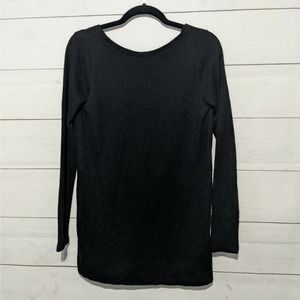 Something Navy Low Back Black Sweater Long Sleeve